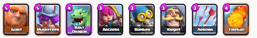 Clash Royale battle deck